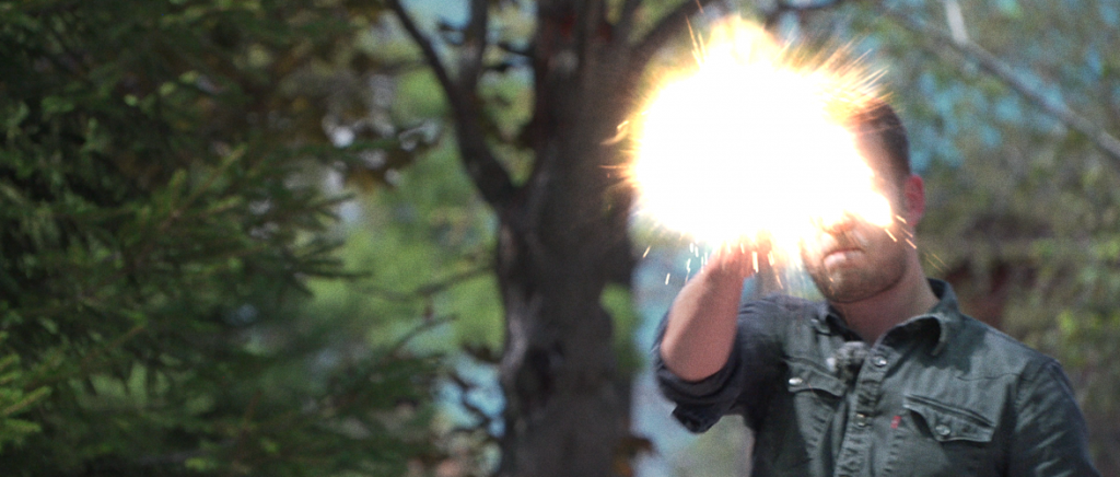 Muzzle flares: stock footage, blurring, light effects and ejecting shell